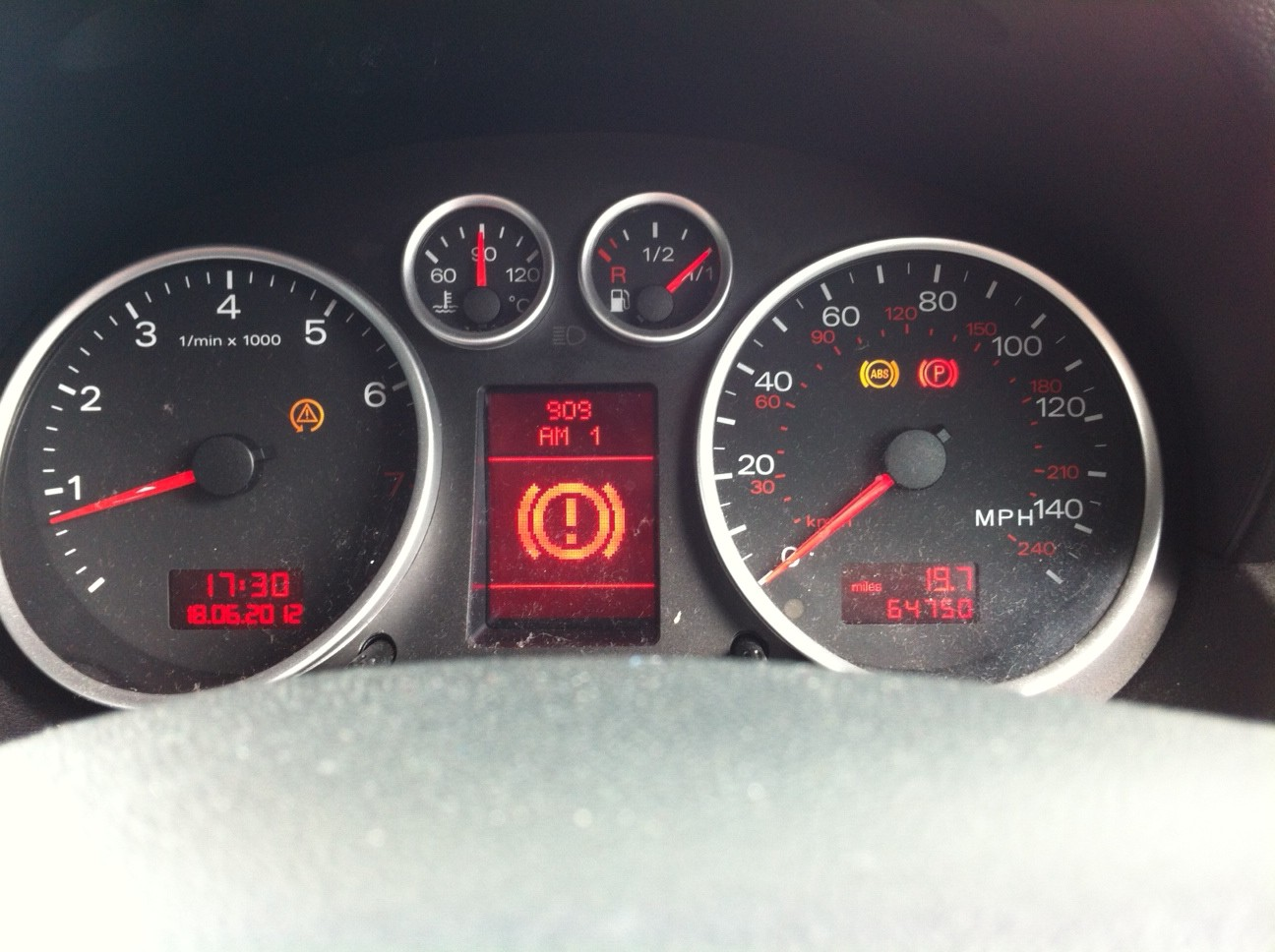 Red Brake Warning light plus others | Audi A2 Owners' Club